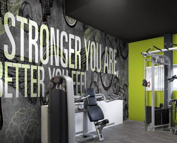 Mural mots inspirants Gym à la maison | Décor Mon Mur