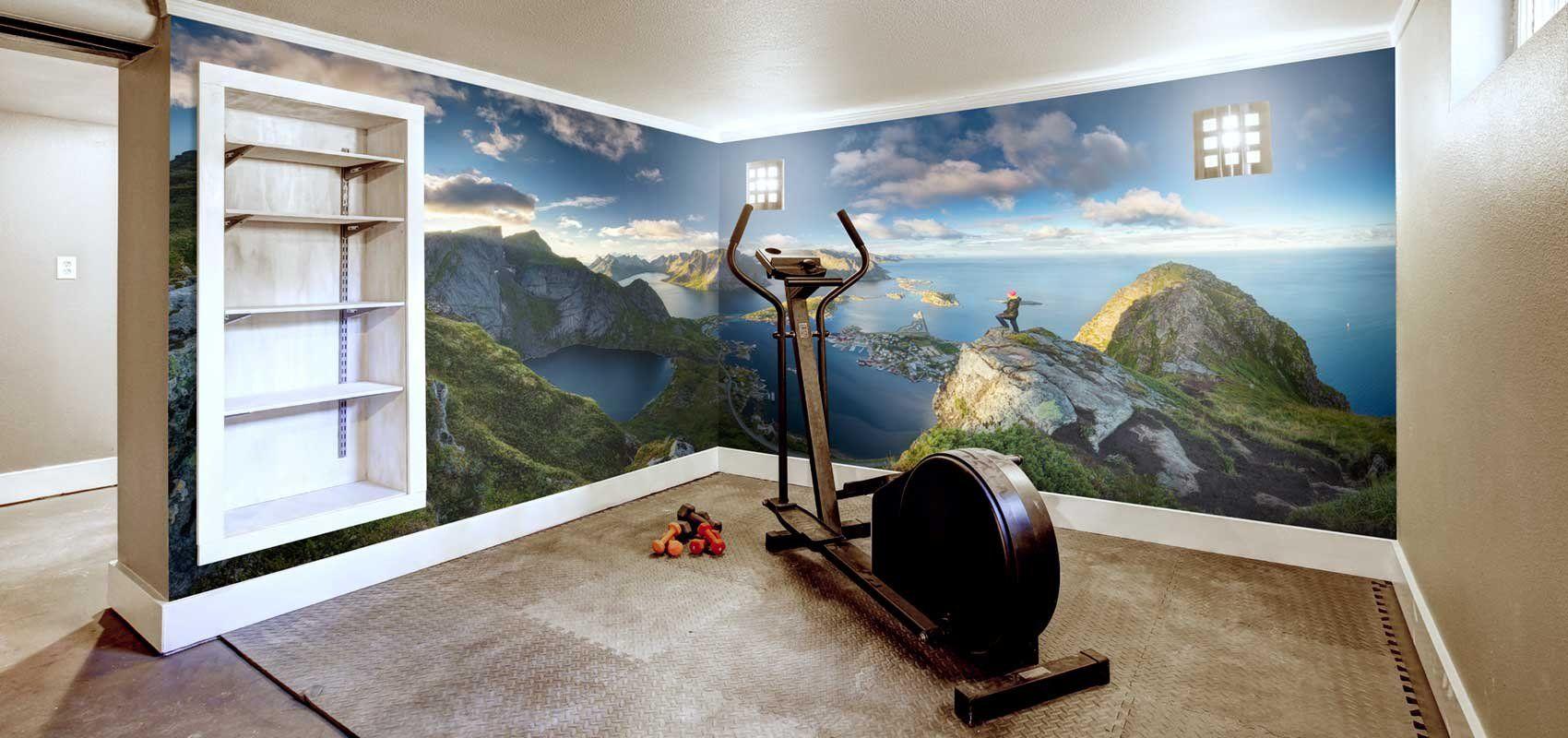 Mural paysage gym à la maison | Décor Mon Mur