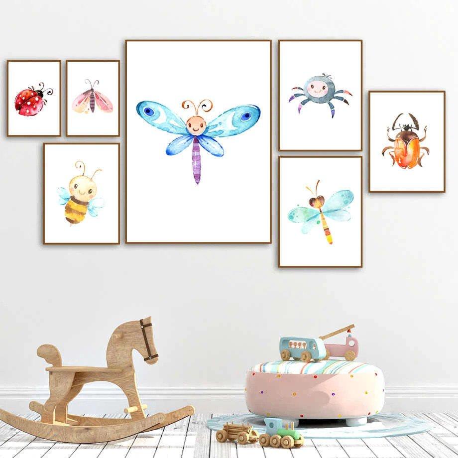 Suggestions pour décorer une chambre d'enfant toiles d'insectes | Décor Mon Mur