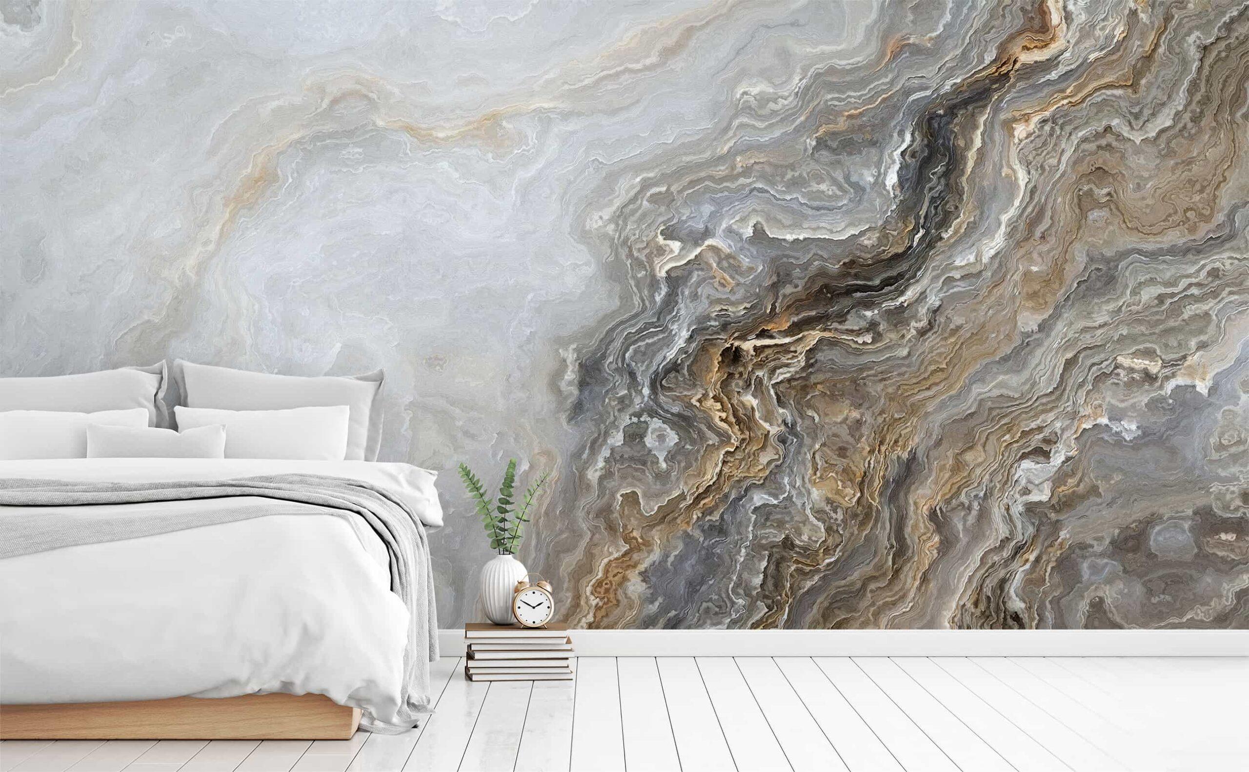 Mural marbre chambre à coucher | Décor Mon Mur